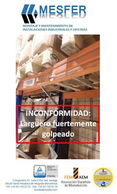 RD 1215/1997, inspecciones de estanterías, Prevención de riesgos, logística, distribución, almacenes