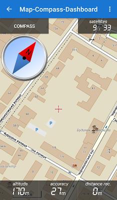Пользовательский экран Map-Compass-Dashboard