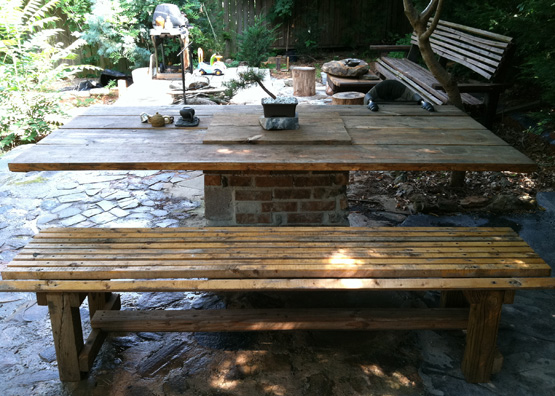 Haijun Ge Designs: Rock Patio with a Built-in Charcoal ...