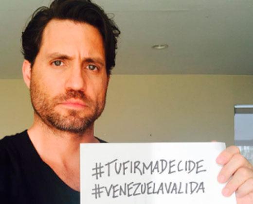 """El selfie """"más importante"""" de Edgar Ramírez"""