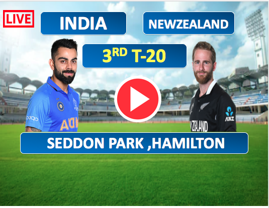 3rd T-20  Match :  India vs New Zealand- 29 Jan, India is batting now