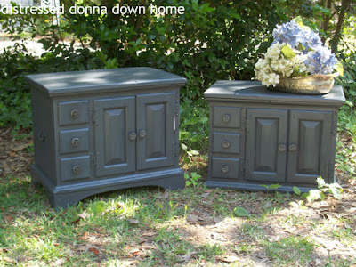Americana Decor paint, Pennsylvania House end tables, furniture makeover, chalk paint