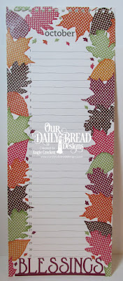 Our Daily Bread Designs Custom Dies: Stitched Leaves, Lovely Leaves, Blessings Border, Paper Collections: Fall Favorites, Christmas Coordinating 2015