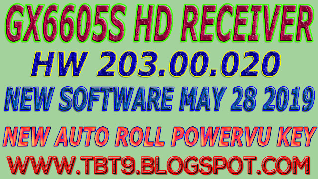 GX6605S HD RECEIVER HARDWARE-203.00.020 NEW SOFTWARE WITH POWERVU TEN SPORTS OK
