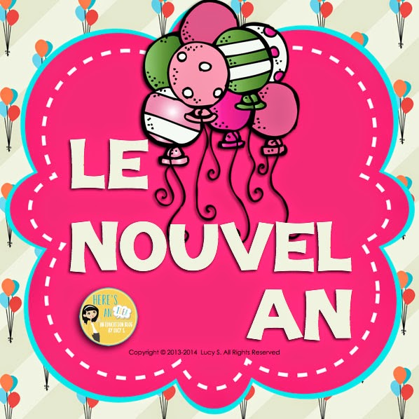 French - Le Nouvel An - writing prompts in French