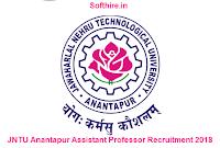 JNTU Anantapur Assistant Professor Recruitment