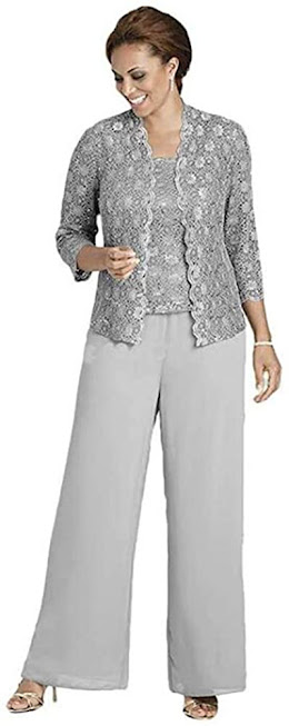 Casual Silver Mother of The Groom Dresses