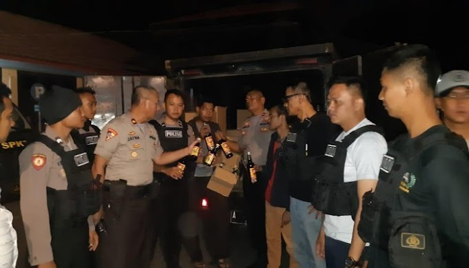 Tim Jawara Polres Cilegon Berhasil Gagalkan Pengiriman Miras Asal Jakarta