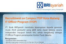 Penerimaan Pegawai PT Bank BRI Syariah (Persero) Tahun 2017