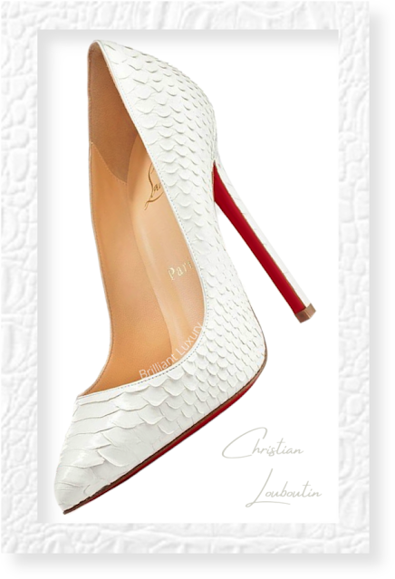 Christian Louboutin So Kate white python snakeskin pumps #brilliantluxury