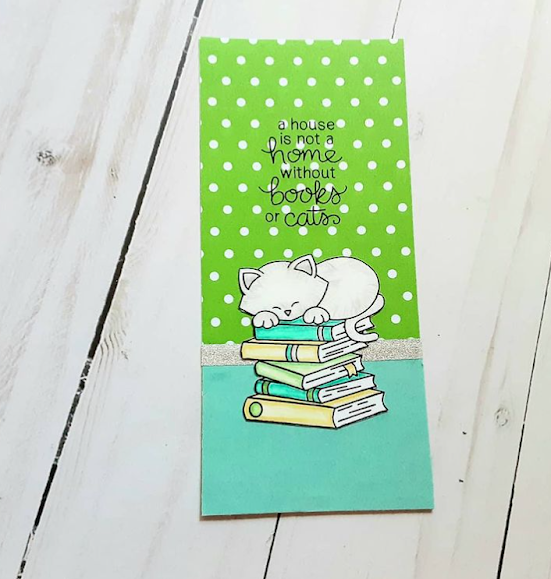 A home is not a home by Kelsey features Newton's Book Club by Newton's Nook Designs; #inkypaws, #newtonsnook, #catcards, #cardmaking