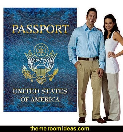 Around The World Passport Standee