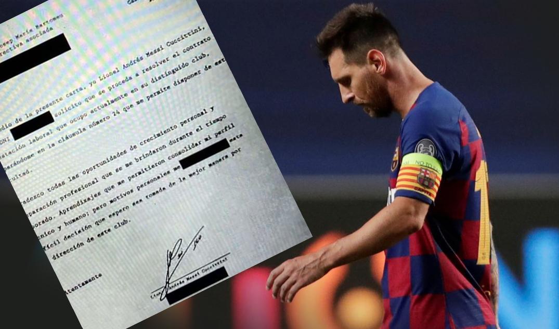Dan a conocer el burofax de Leo Messi al Barcelona con su renuncia