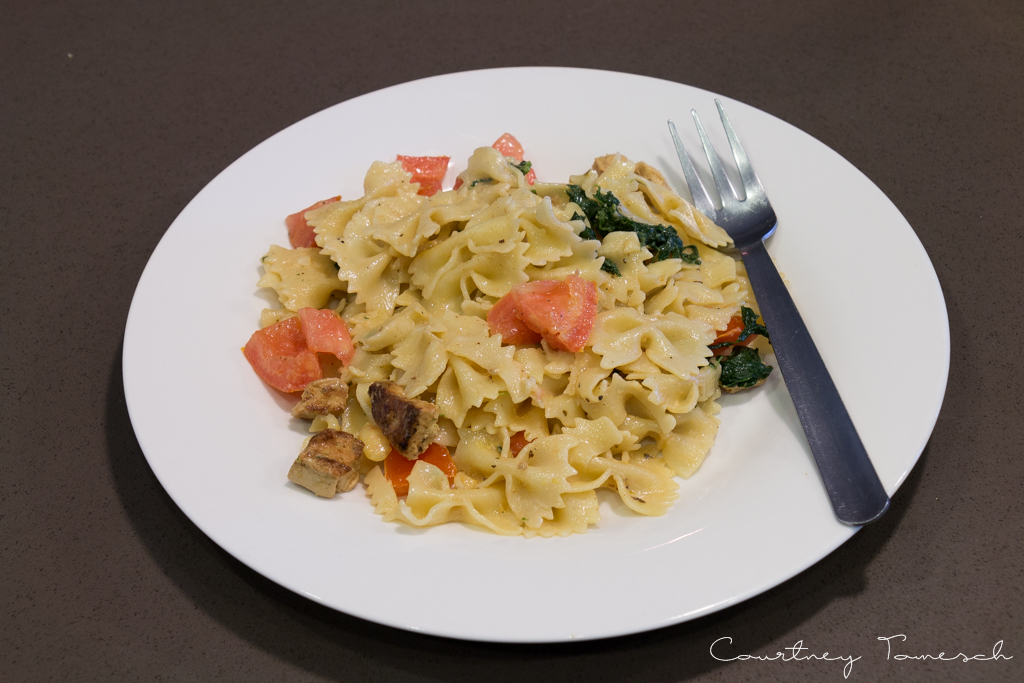 Courtney Tomesch Vegan Chicken Pasta Salad