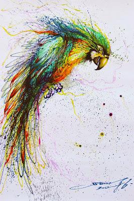 Pintura de guacamaya