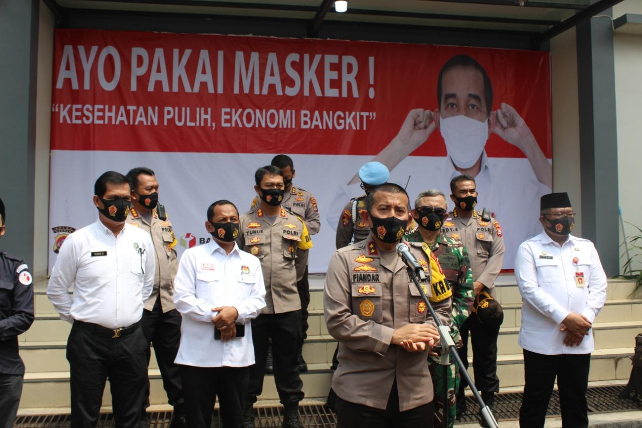 Jelang Pilkada Serentak 2020, Polda Banten dan Polres Bagikan 260 Ribu Masker