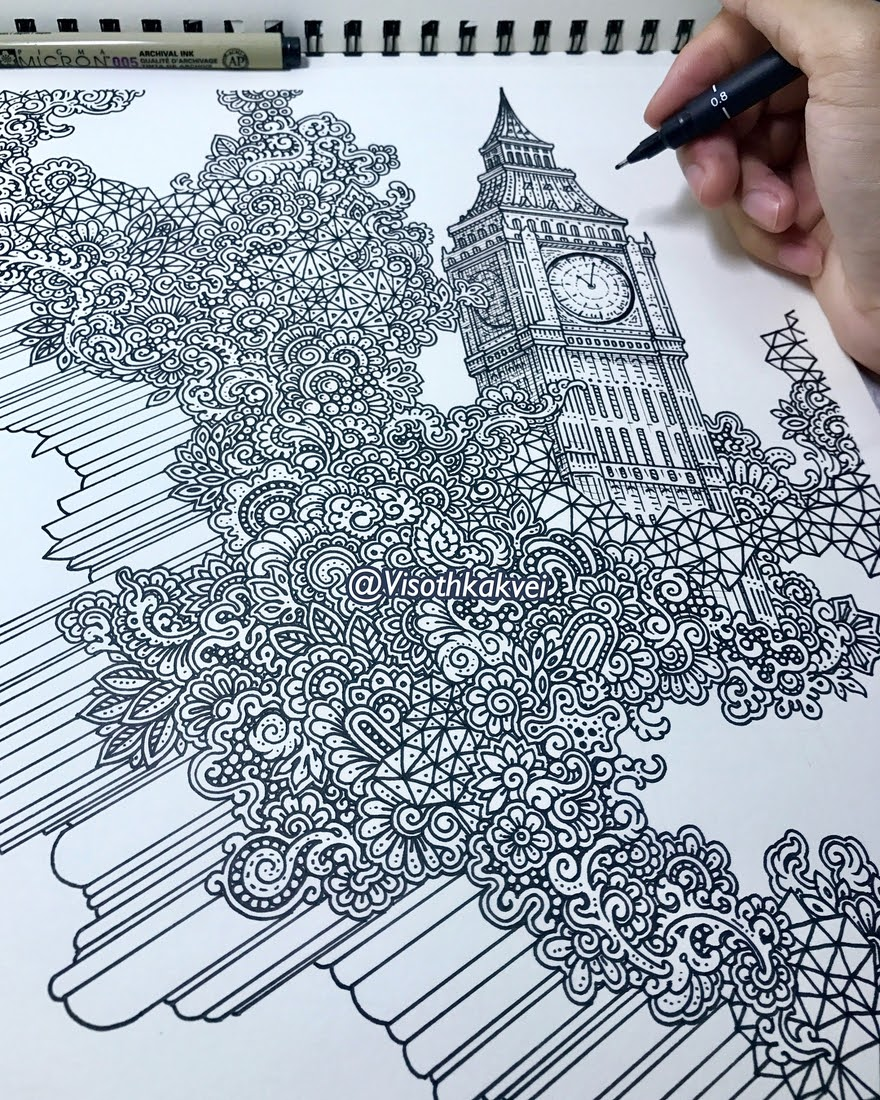 05-London-Big-Ben-Visoth-Kakvei-Detailed-Drawings-with-many-Styles-www-designstack-co