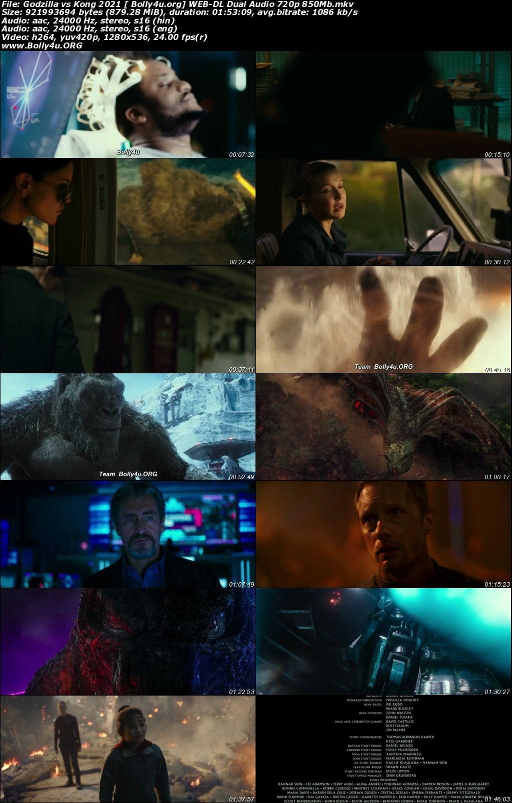 Godzilla vs Kong 2021 WEB-DL 850MB Hindi Dual Audio 720p Download