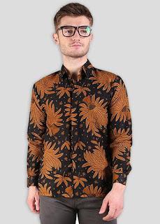 Baju Batik Pria Lengan Panjang Gaul