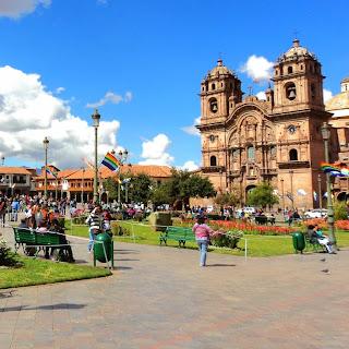 Iglesia de la Compañía de Jesús Vista da Plaza das Armas, em Cusco