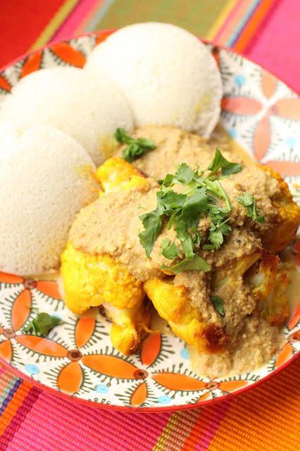 chou fleur au four et sauce curry