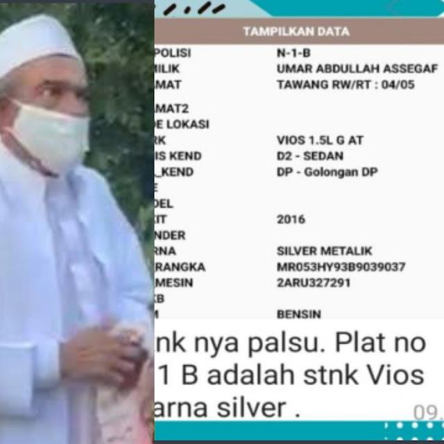 Allah Tunjukkan Kebenaran Lewat Plat Mobil Habib Umar Assegaf