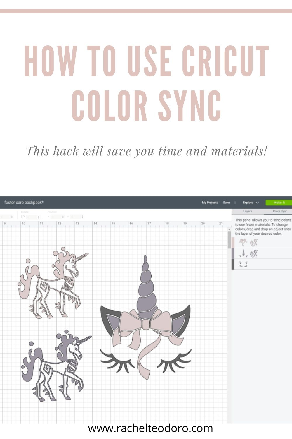 using color sync in cricut