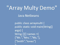 Contoh Program Java Netbeans Array Multy Demo