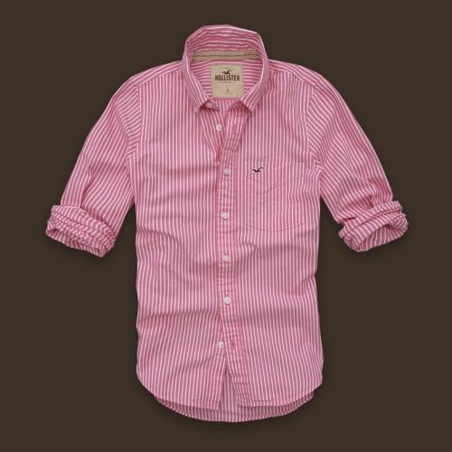 1e61ee028e1d7 camisa hollister de rayas rosa para hombres