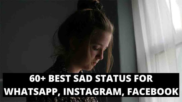 60+ Best Sad Status For WhatsApp, Instagram, Facebook | Two Lines Sad Status in Hindi