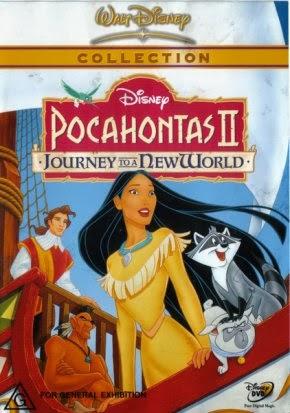 Pocahantas 2 Disney dvd animatedfilmreviews.filminspector.com