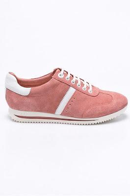 s. Oliver - Pantofi sport originali din piele naturala roz