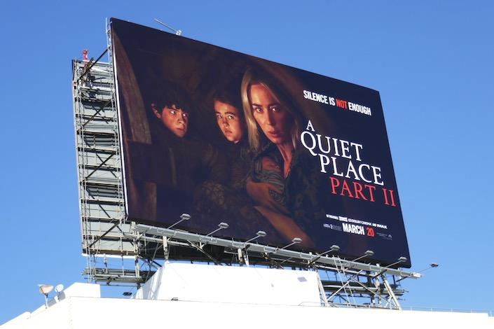 A Quiet Place Part II movie billboard