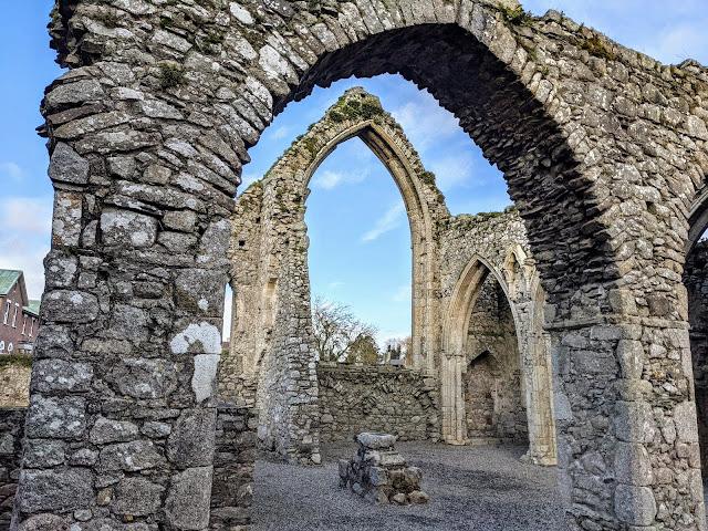 Castledermot Abbey near Kilkea Castle in South Kildare