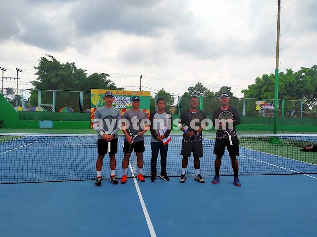 Sulistyo Wibowo/Sabar Juara KU 95 Kejuaraan Tenis KONI Kukar Open 2020