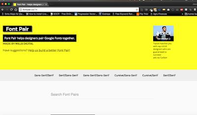 Font Pair, pour combiner vos Google Fonts, A Unix Mind In A Windows World