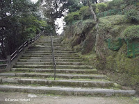 Large old stone stairs, Isahaya Park - Nagasaki, Japan