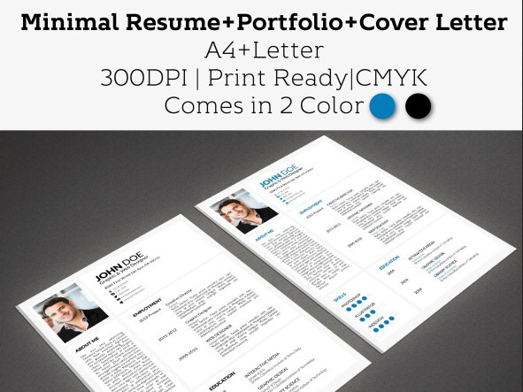 Download Minimal Resume With Portfolio Free