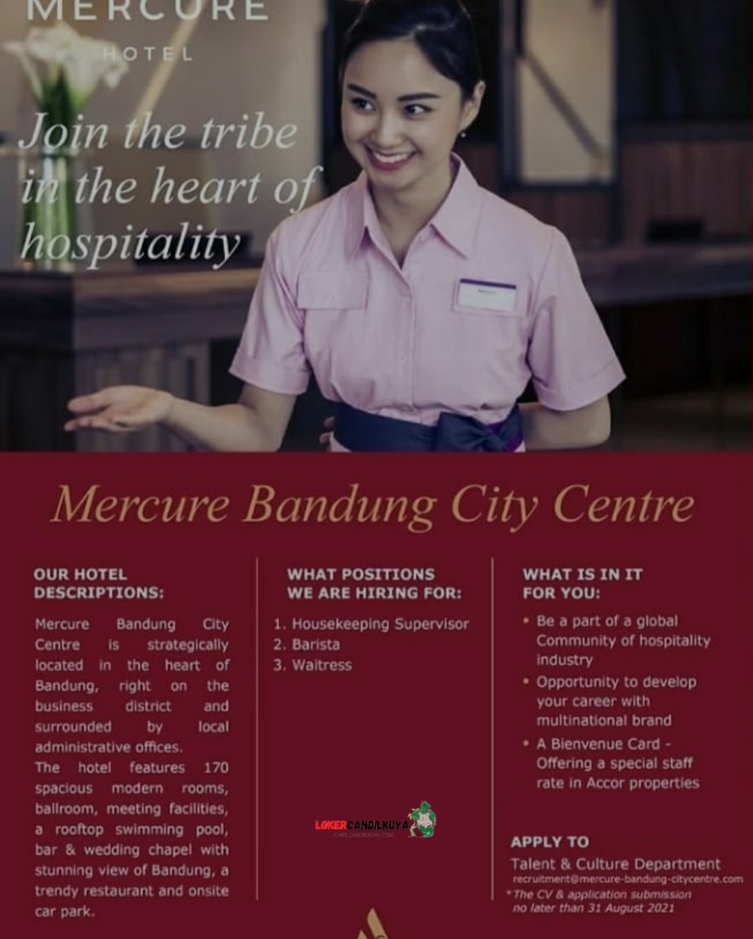 Lowongan Kerja Mercure Bandung City Centre