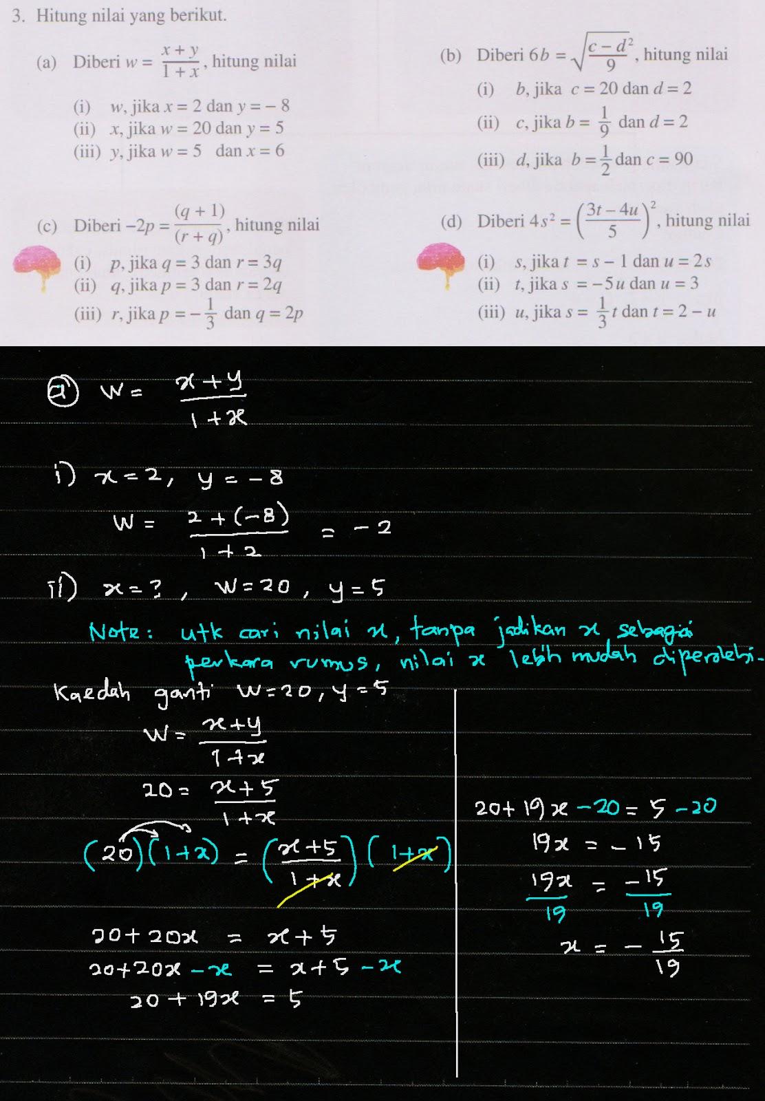 Cikgu Azman Tingkatan 2 Matematik Bab 3 Rumus Algebra Menjana Kecemerlangan Ms 50