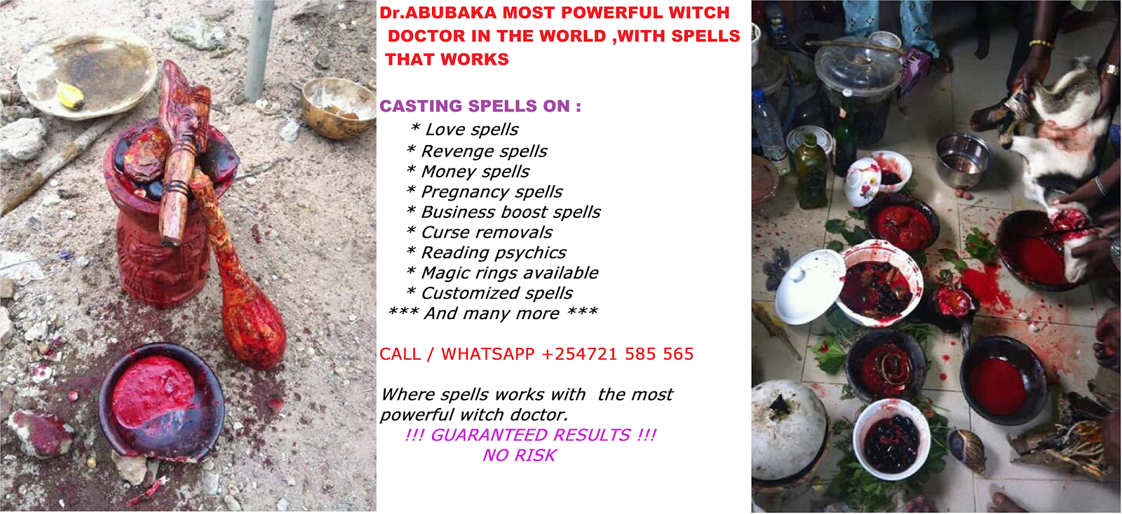 MOST POWERFUL WITCH DOCTOR SERVICES IN KENYA/USA/UK +254721
