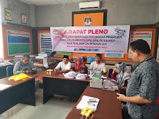 Rapat Pleno Hasil Penelitian Syarat Bakal Calon Anggota DPRD Wajo Pemilu 2019
