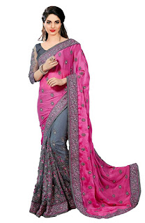 latest net sarees for wedding for diwali