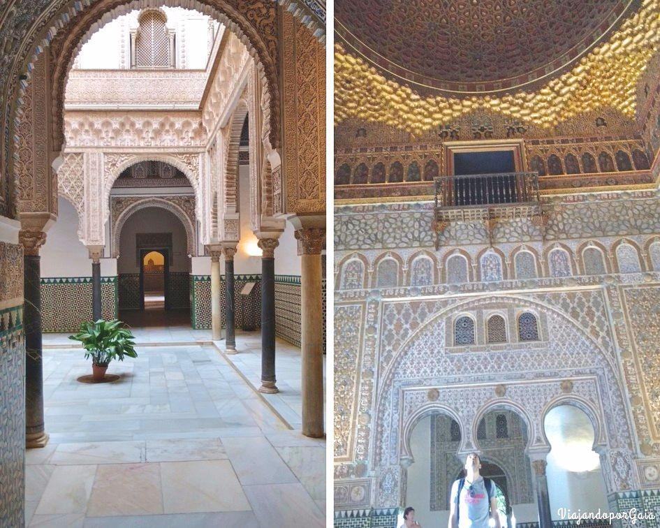 Patio de las Muñecas y cúpula del Salón de los Embajadores.