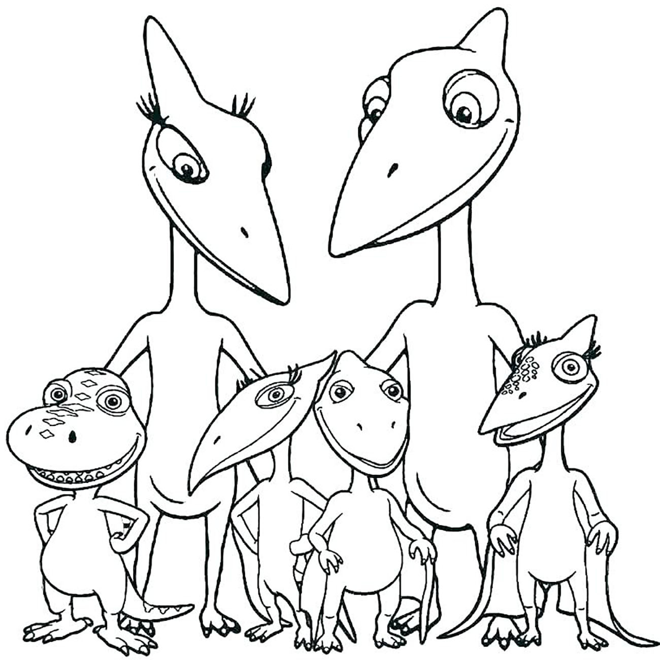 Dinosaurs coloring pages 45