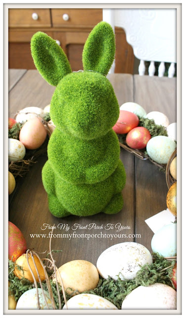 Moss Bunny-Target Bargain BIn-From My Front Porch To Yours- Easter Wreath