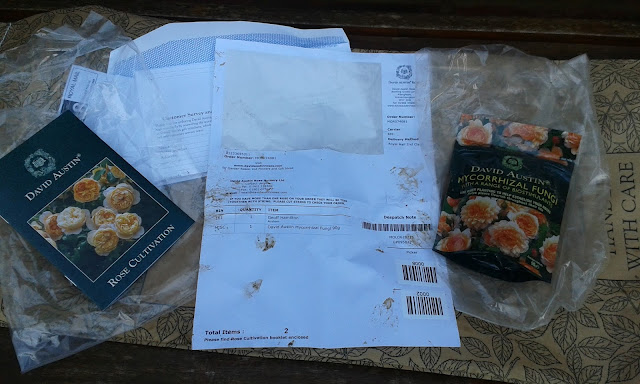 David Austin Roses Rose Cultivation Guide customer survey packing note mycorrhizal fungi
