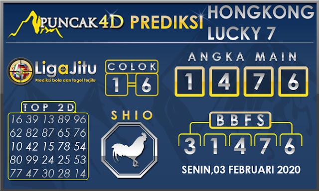 PREDIKSI TOGEL HONGKONG LUCKY7 PUNCAK4D 03 FEBRUARI 2020