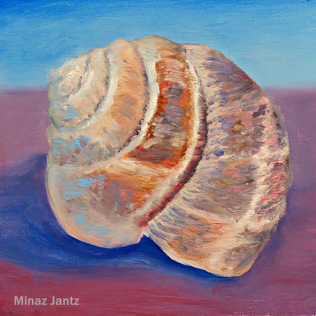 Escargot Shell by Minaz Jantz (Oil)
