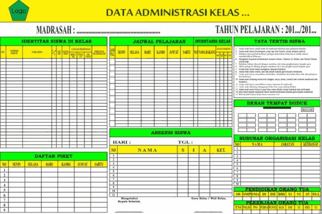 Download Desain Papan Bank Data Kelas Full Edit